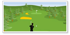 Online game design Addicted to Golf