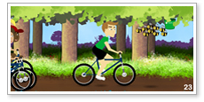 Online game design NSPCC Big Bike Ride
